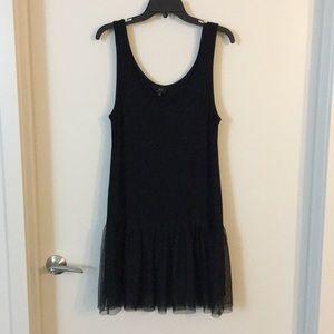 Jack by BB Dakota Black Tulle Hem Dress